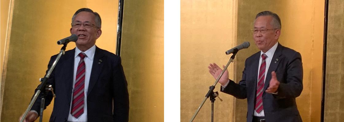 木村会長の挨拶と三本締め